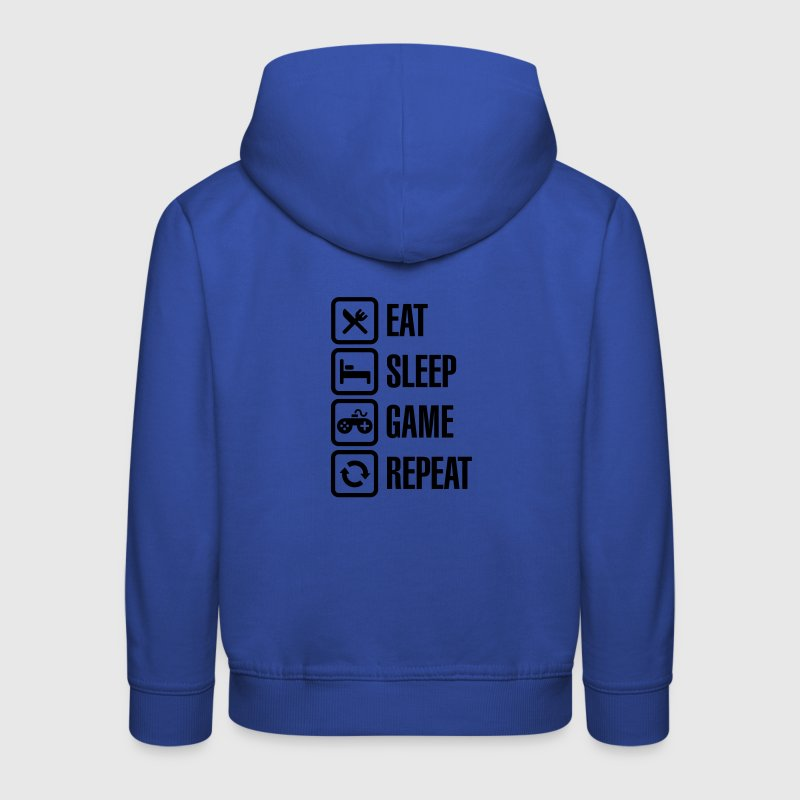 Eat sleep game repeat Hoodies - Kids' Premium Hoodie