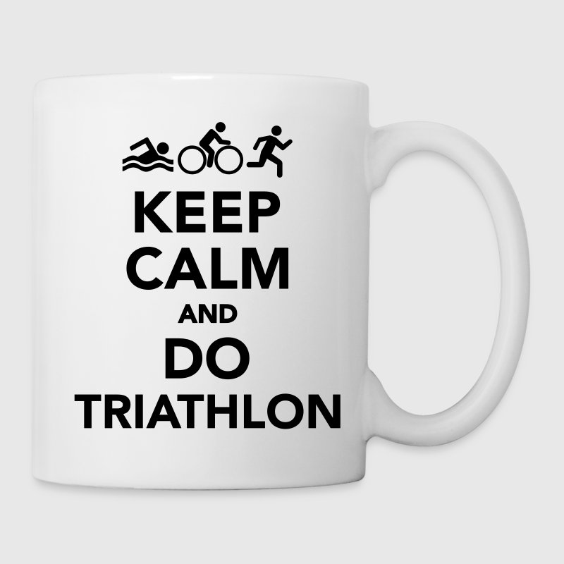 Keep calm and do Triathlon Tassen & Zubehör - Tasse
