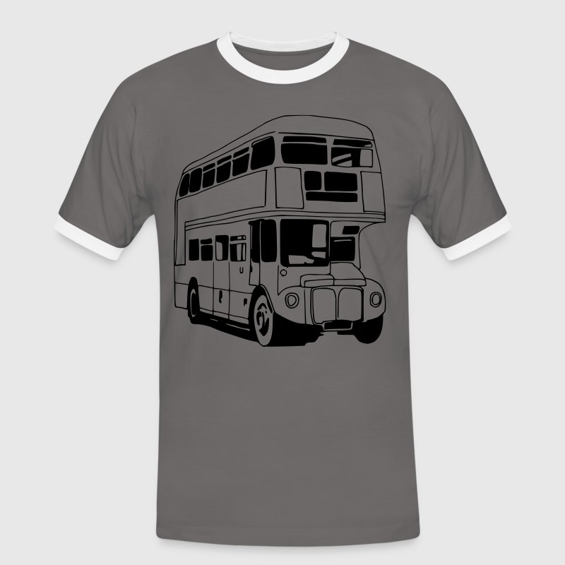 London-Bus (sw) T-Shirts - Männer Kontrast-T-Shirt