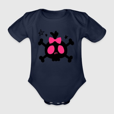 Cute skull Kids' Hoodie - Organic Short-sleeved Baby Bodysuit