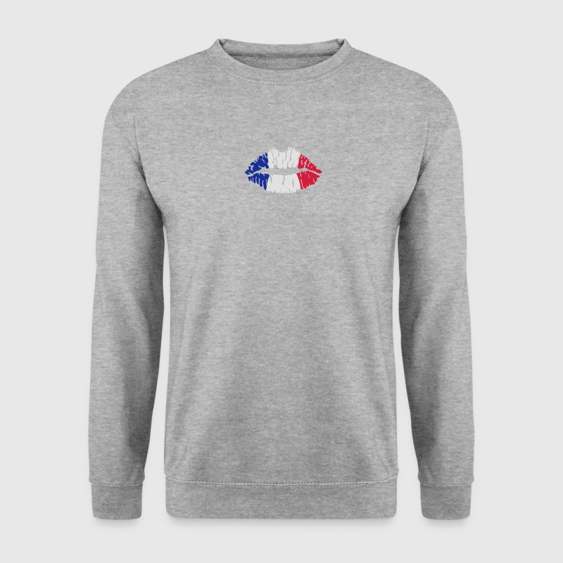 Drapeau français lèvres Sweat-shirts - Sweat-shirt Homme