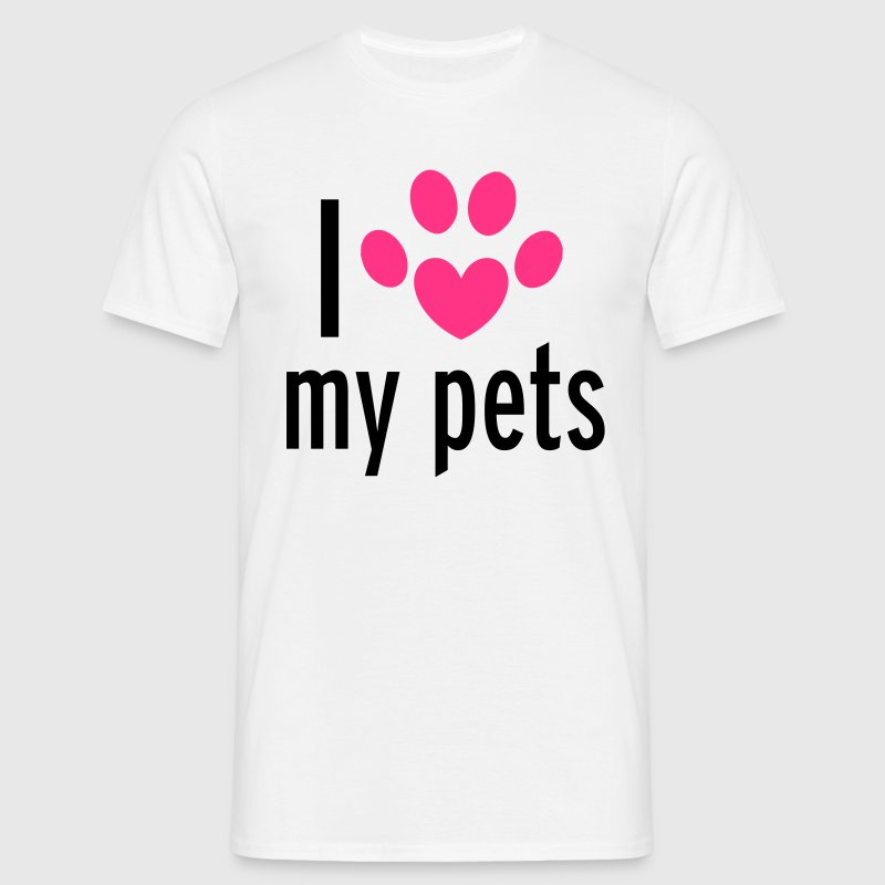 Love My Pets Tee shirts - T-shirt Homme