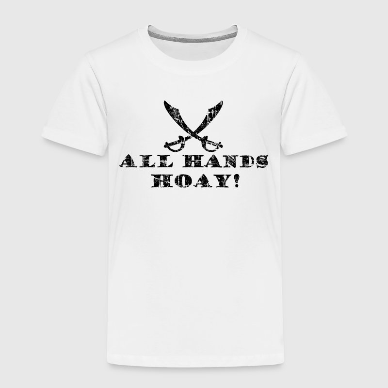 All Hands Hoay Piraten T-Shirt (Kinder/Weiß) - Kinder Premium T-Shirt