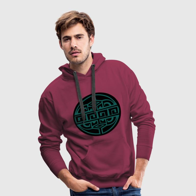 tribal polynésien Sweat-shirts - Sweat-shirt à capuche Premium pour hommes