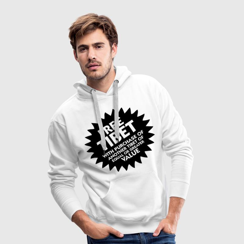 Free Tibet! Sweat-shirts - Sweat-shirt à capuche Premium pour hommes
