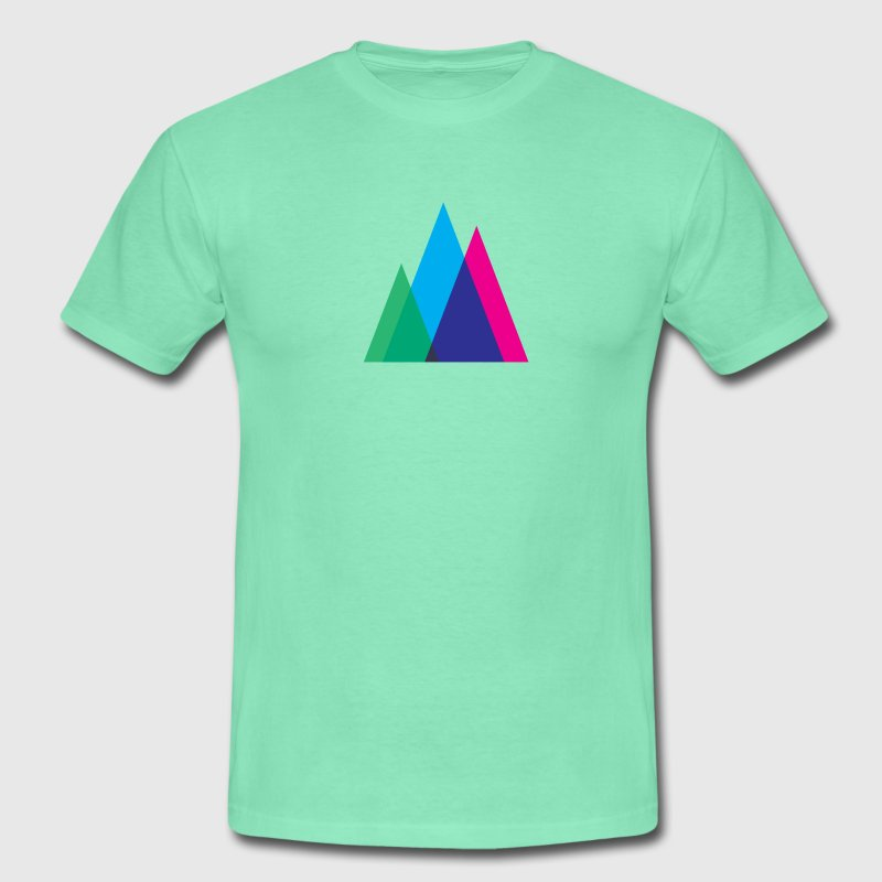 Abstract Mountains Symbol T-Shirts - Men's T-Shirt