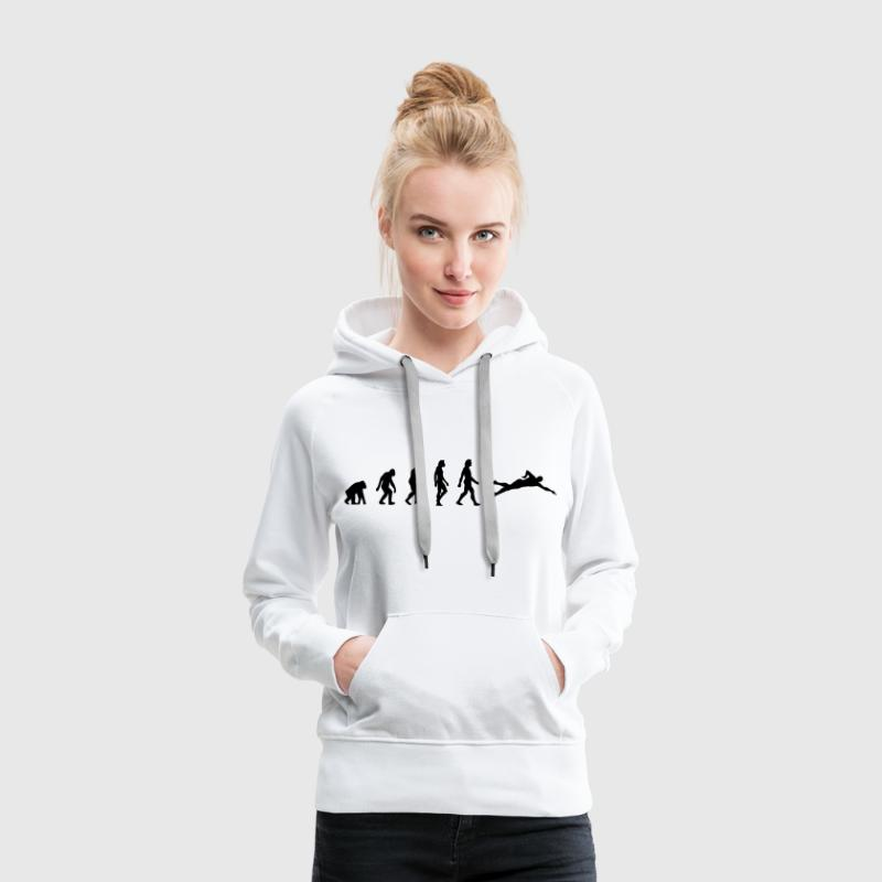 The evolution of swimming Hoodies & Sweatshirts - Women's Premium Hoodie