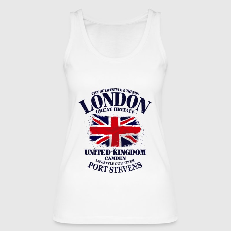 London - Union Jack Vintage Flag Tops - Women's Organic Tank Top