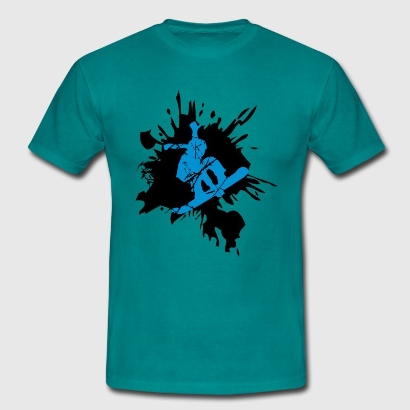 snowboard graffiti logo design cool stunt color T-Shirts - Men's T-Shirt