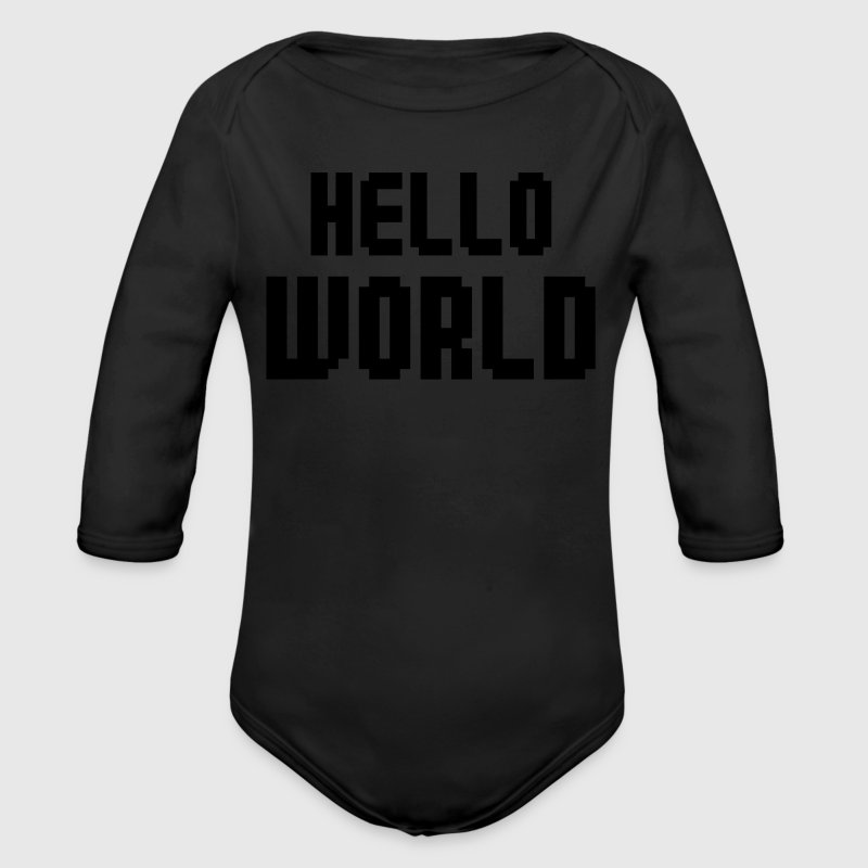 Hello World Baby Bodys - Baby Bio-Langarm-Body