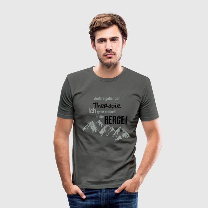 Therapie Berge T-Shirts - Männer Slim Fit T-Shirt