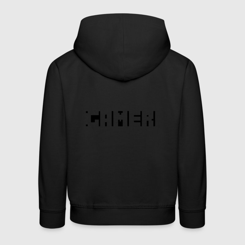 Gamer - Geek texte humour illusion Sweats - Pull à capuche Premium Enfant