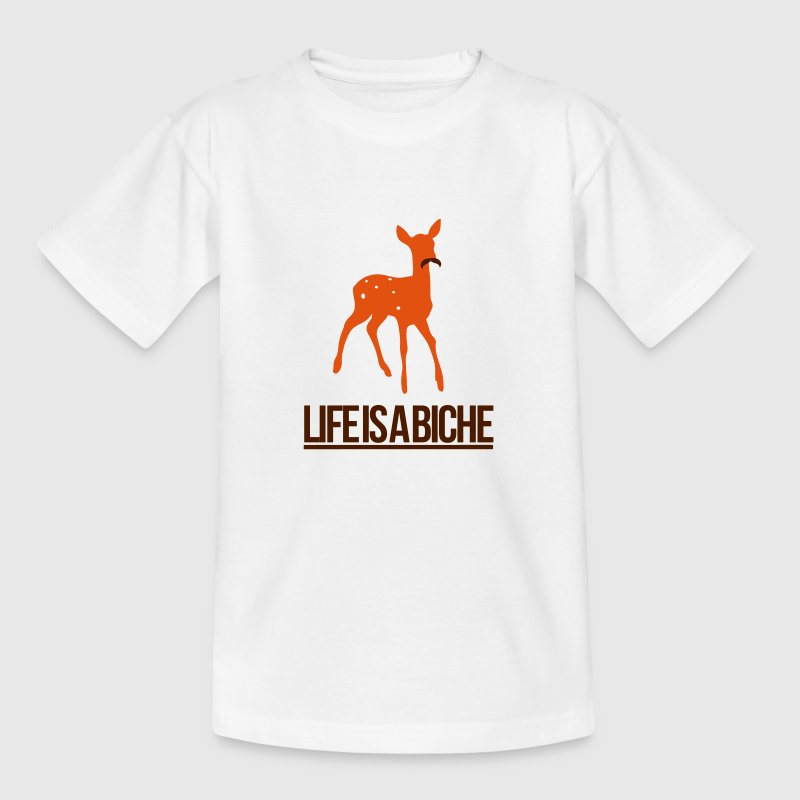 Life is a Biche - Parodie humour Life is a joke Tee shirts - T-shirt Ado