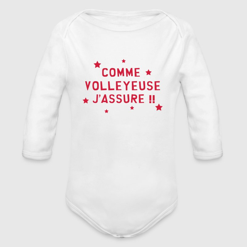 Volleyball / Volleyeur / Volley / Volley-ball Bodys Bébés - Body bébé bio manches longues
