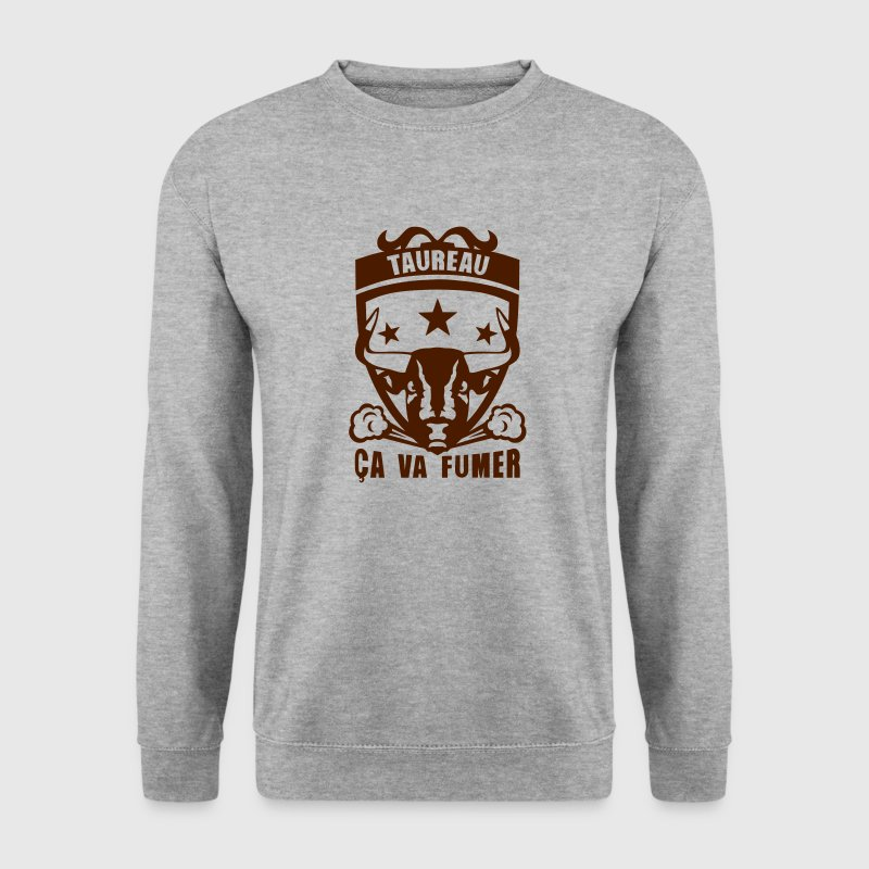 taureau signe astrologique fumer logo Sweat-shirts - Sweat-shirt Homme