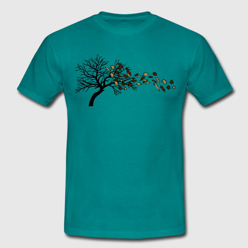 Autumn leaves tree wind T-Shirts - Men's T-Shirt