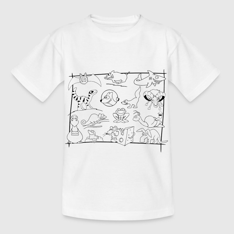 Ausmal-Shirt 'Viecher' - Kinder T-Shirt