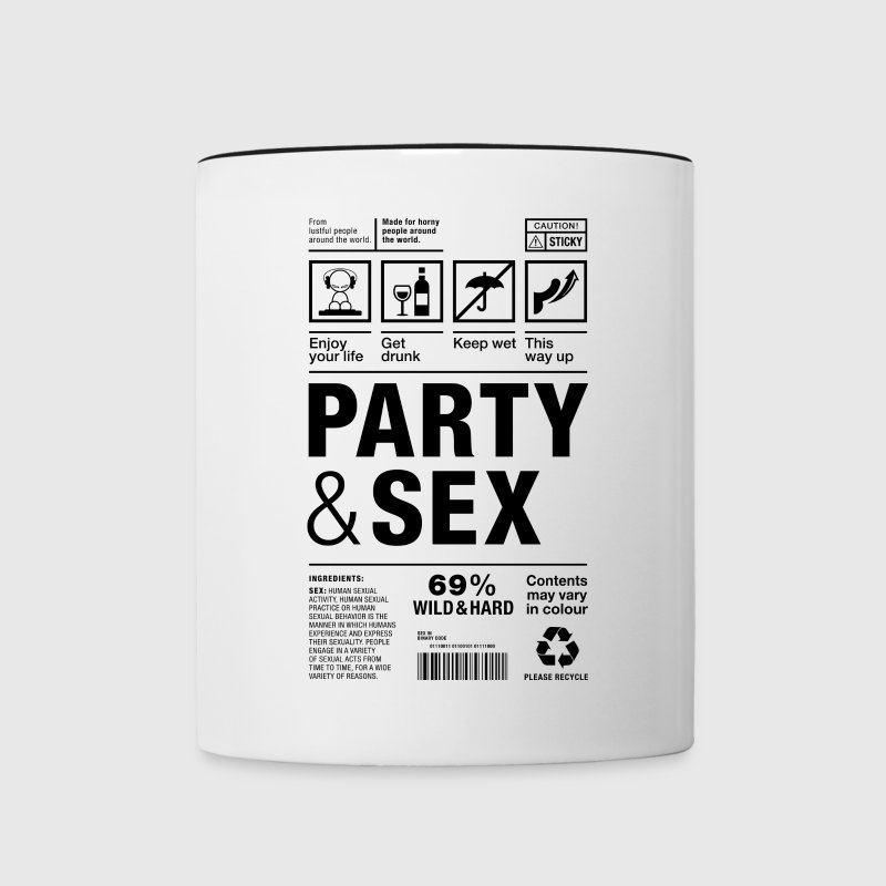 Party Sex packaging label Paket Versandetikett - Tasse zweifarbig