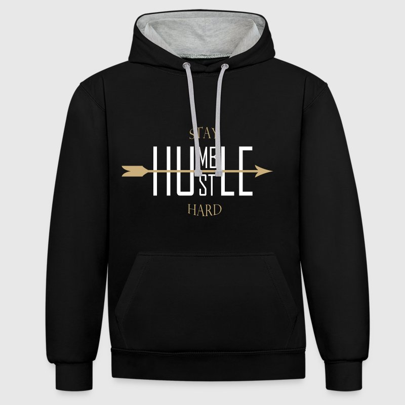 Stay humble - hustle hard Sweat-shirts - Sweat-shirt contraste