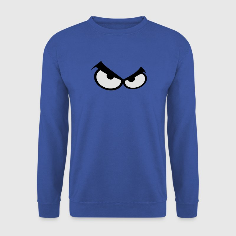 oeil yeux smiley pas content colere Sweat-shirts - Sweat-shirt Homme