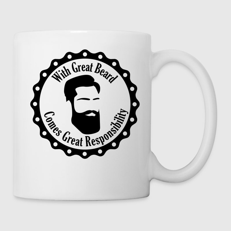 With Great Beard Comes Great Responsibility Tassen & Zubehör - Tasse
