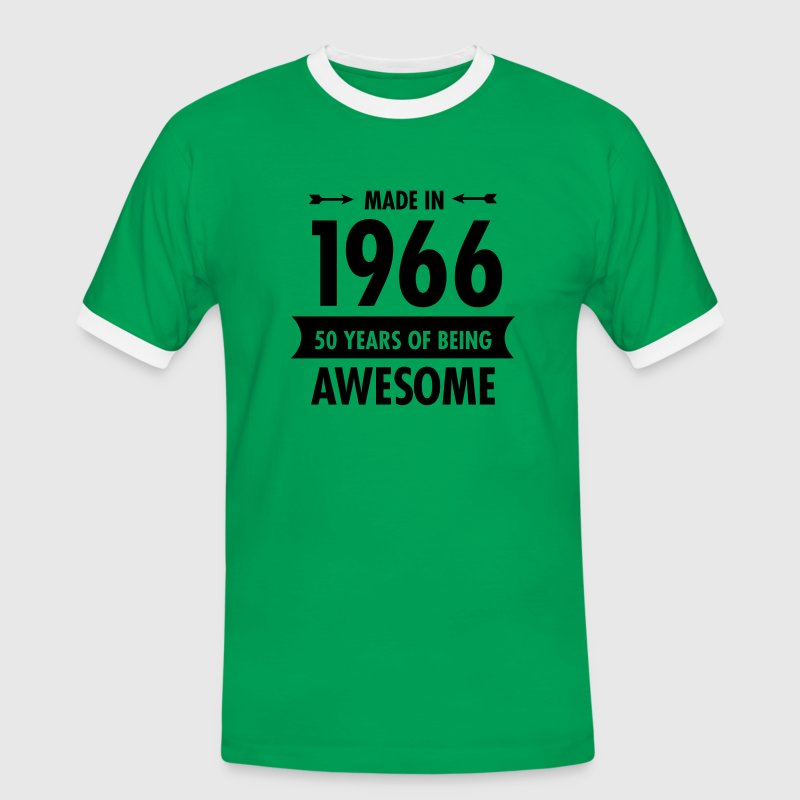 Made In 1966 . 50 Years Of Being Awesome Tee shirts - T-shirt contrasté Homme