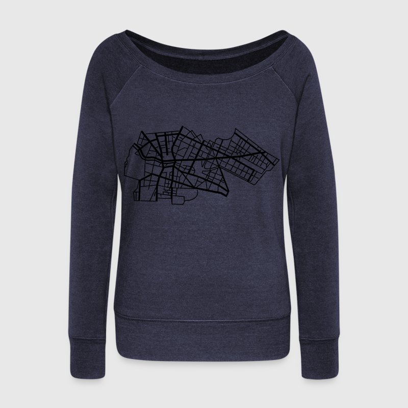 Berlin Kreuzberg Hoodies & Sweatshirts - Women's Boat Neck Long Sleeve Top