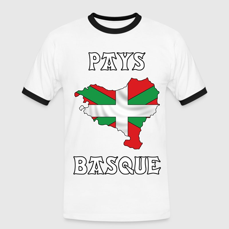 pays basque - euskal herria 23 Tee shirts - T-shirt contraste Homme