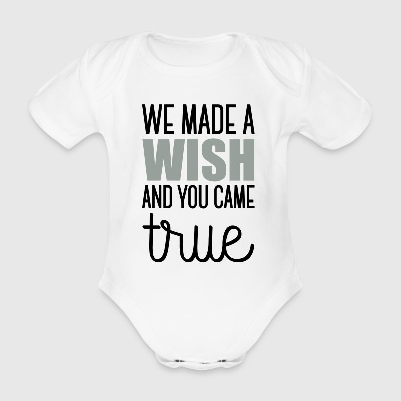 Babydesign: We made a wish and you came true Baby Bodys - Baby Bio-Kurzarm-Body