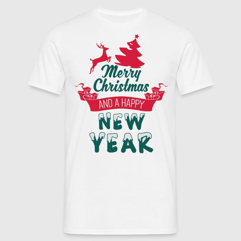 Merry Christmas and a Happy new Year Camisetas - Camiseta hombre