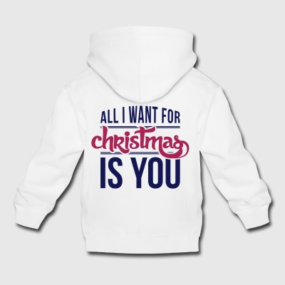All I want for christmas is you Manches longues - Pull à capuche Premium Enfant