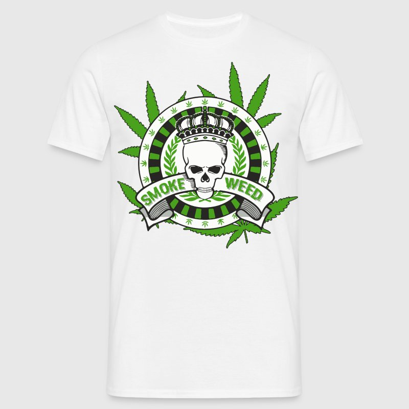 skull king weed Tee shirts - T-shirt Homme