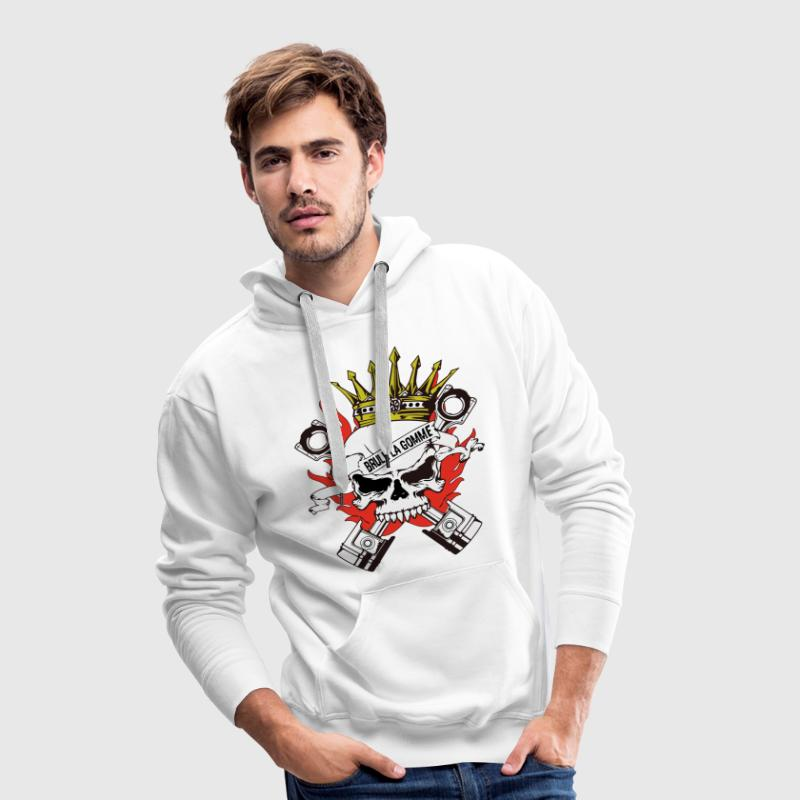 skull king motard Sweat-shirts - Sweat-shirt à capuche Premium pour hommes