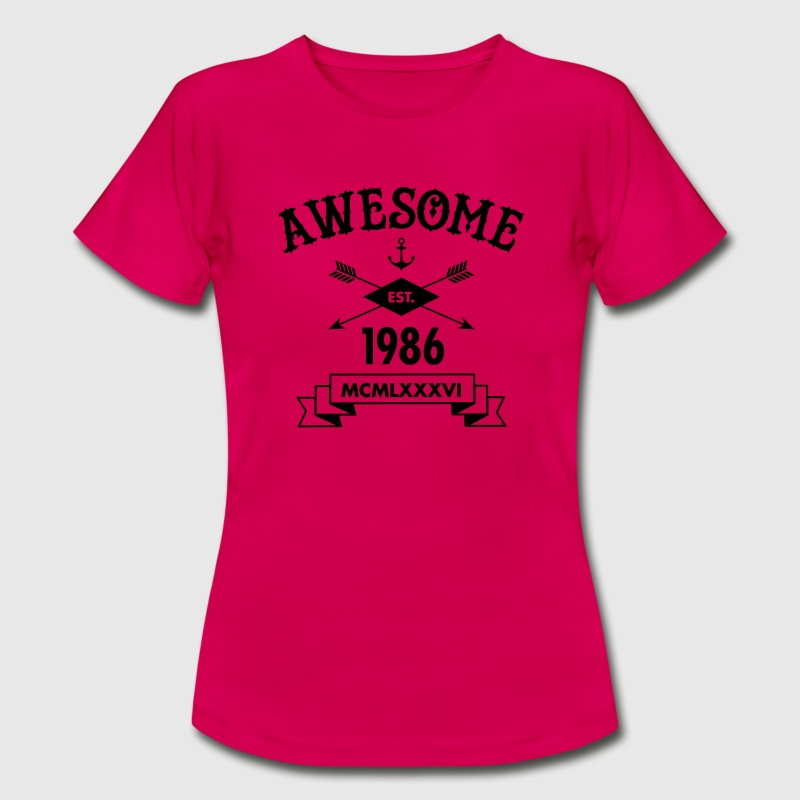Awesome Est. 1986 T-Shirts - Frauen T-Shirt