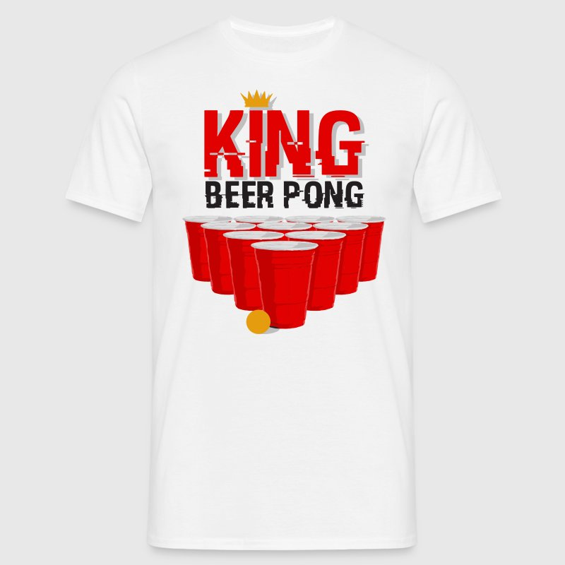 king beerpong classique Tee shirts - T-shirt Homme