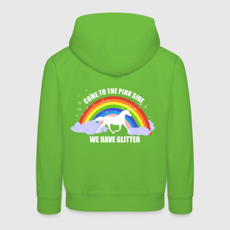 Einhorn *Come to the pink side - we have glitter* Pullover & Hoodies - Kinder Premium Hoodie