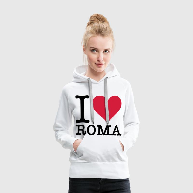 I love Rome Sweat-shirts - Sweat-shirt à capuche Premium pour femmes