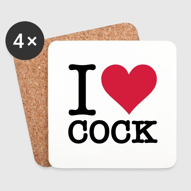 I love cock Mugs & Drinkware - Coasters (set of 4)