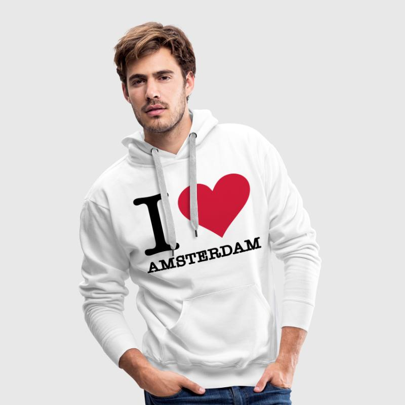 I love Amsterdam Sweat-shirts - Sweat-shirt à capuche Premium pour hommes