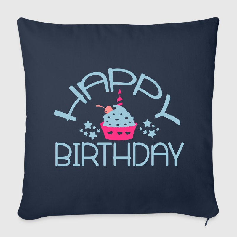Happy Birthday Sofa pillow cover 44 x 44 cm - Sofa pillow cover 44 x 44 cm