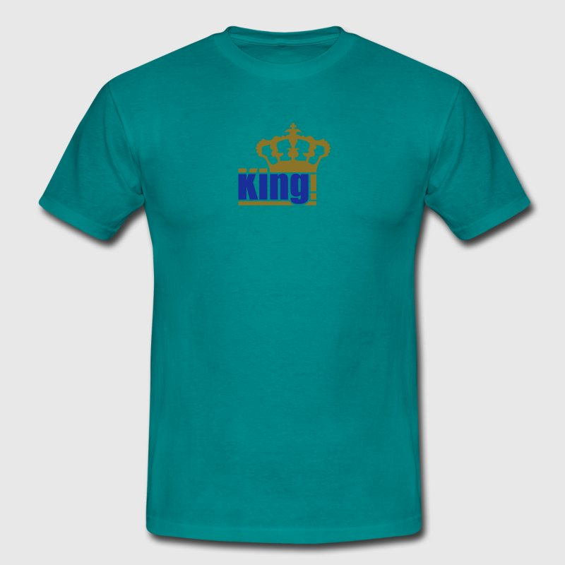 gold king the king text design logo cool chef T-Shirts - Men's T-Shirt