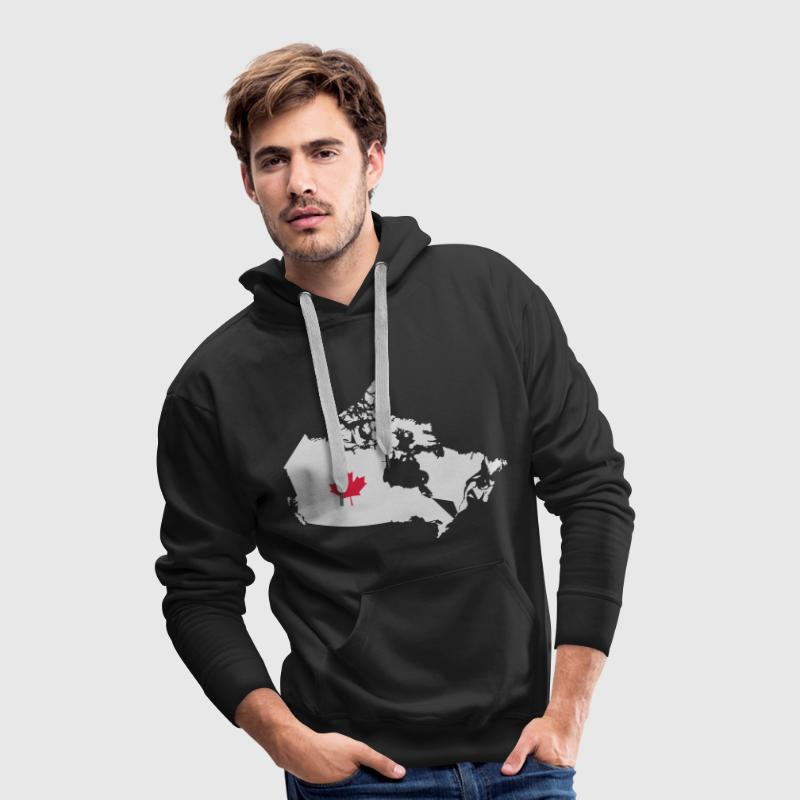 Kanada, Canada Map Hoodies & Sweatshirts - Men's Premium Hoodie