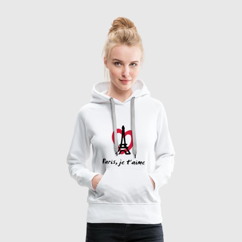 Paris, je t'aime - France Sweat-shirts - Sweat-shirt à capuche Premium pour femmes