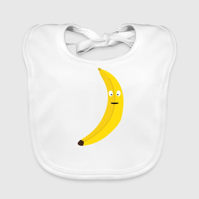 Banana with face Baby Bibs - Baby Organic Bib