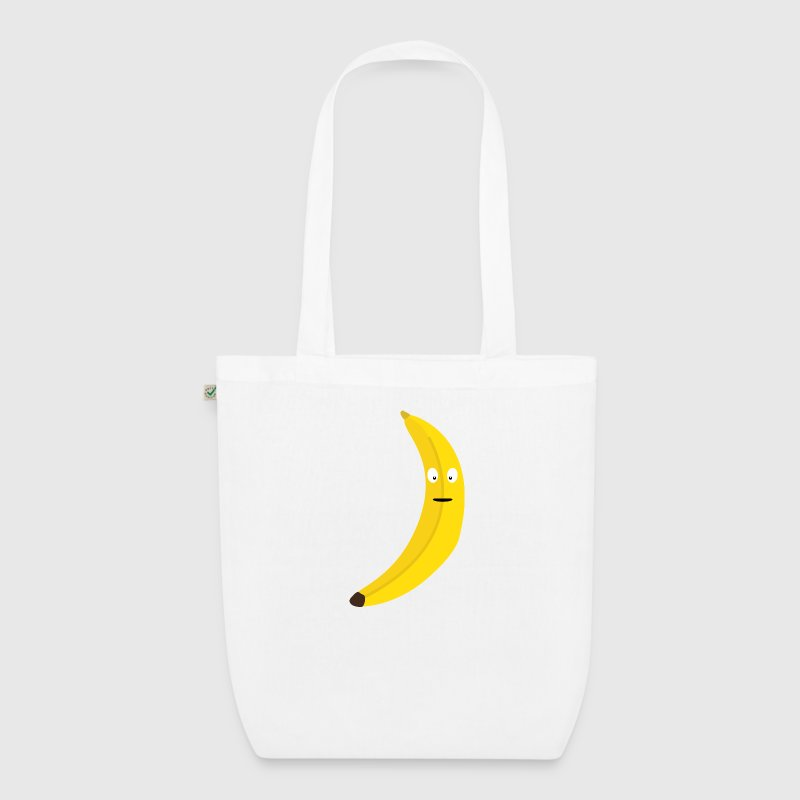 Banana with face Bags & Backpacks - EarthPositive Tote Bag
