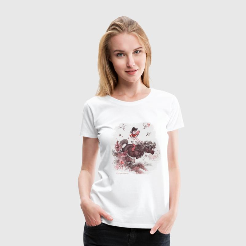 Thelwell - Pony outside in nature T-Shirts - Women's Premium T-Shirt