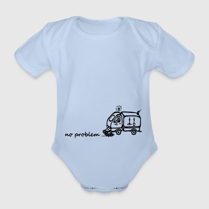 Street cleaners - no problem Baby Bodysuits - Organic Short-sleeved Baby Bodysuit