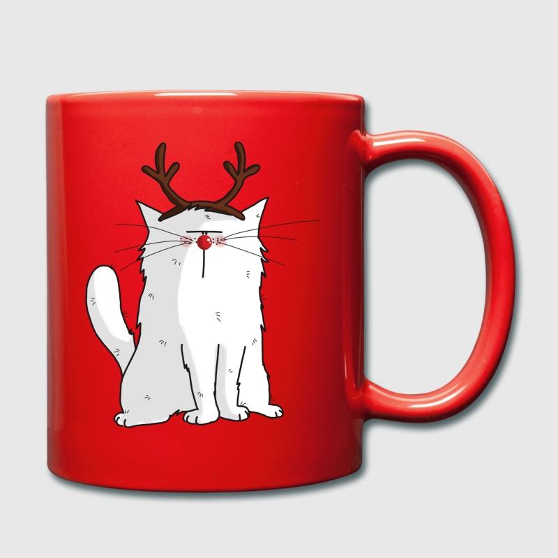tasse mrou le chat renne de no l spreadshirt. Black Bedroom Furniture Sets. Home Design Ideas