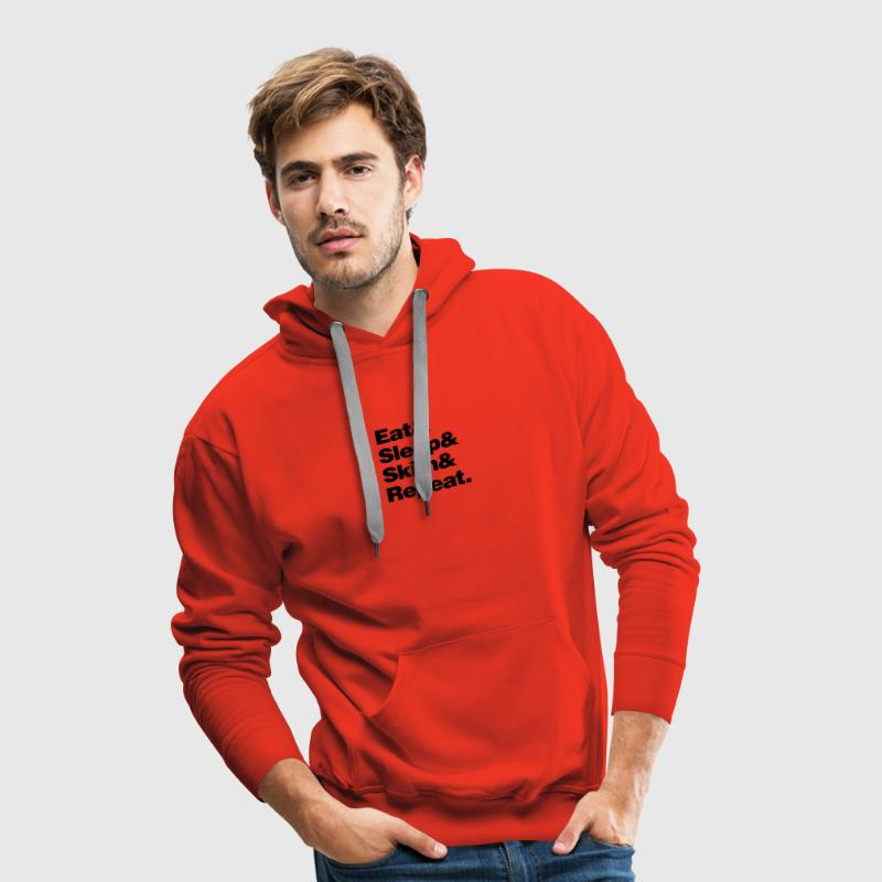 eat_sleep_ski_and_repeat premium hoodie - Men's Premium Hoodie