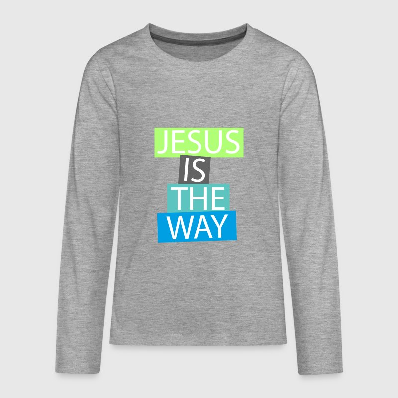 Jesus is the way Langarmshirts - Teenager Premium Langarmshirt
